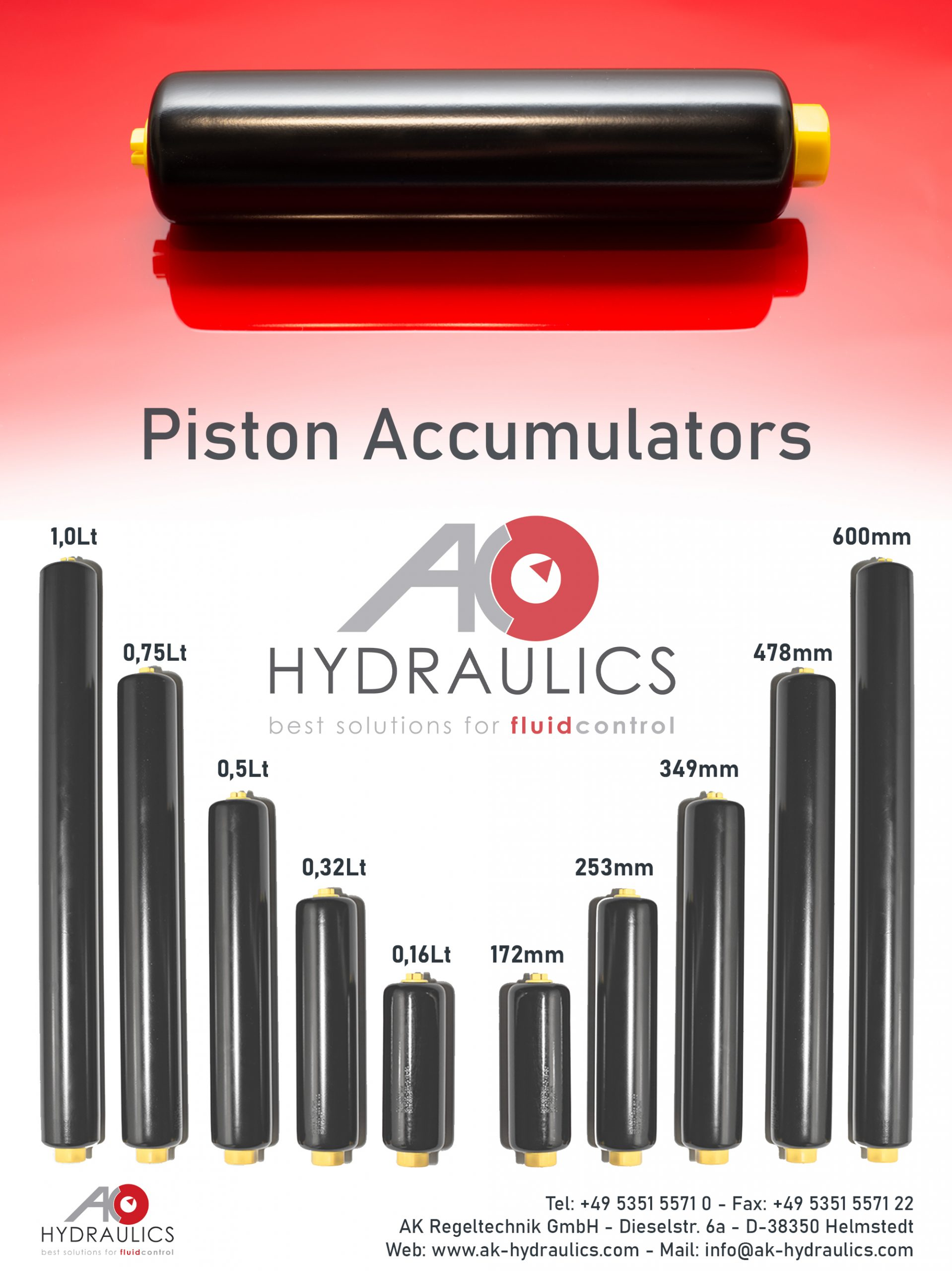 Kolbenspeicher – AK Regeltechnik – Piston Accumulators 1